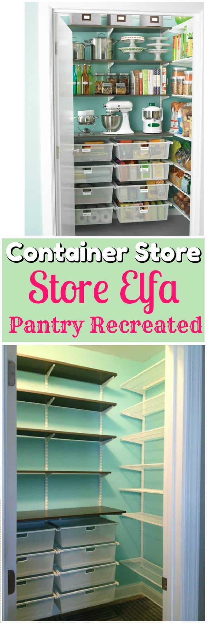 Mi tienda de contenedores Elfa Pantry recreada