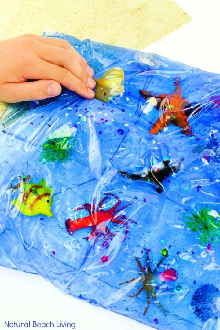 Bolsa sensorial Ocean Life para niños pequeños