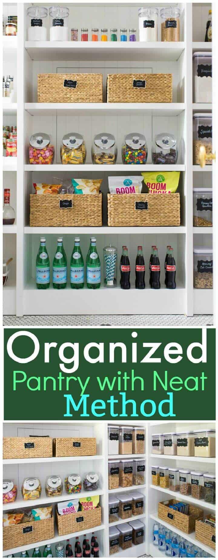 Despensa organizada con un método ordenado