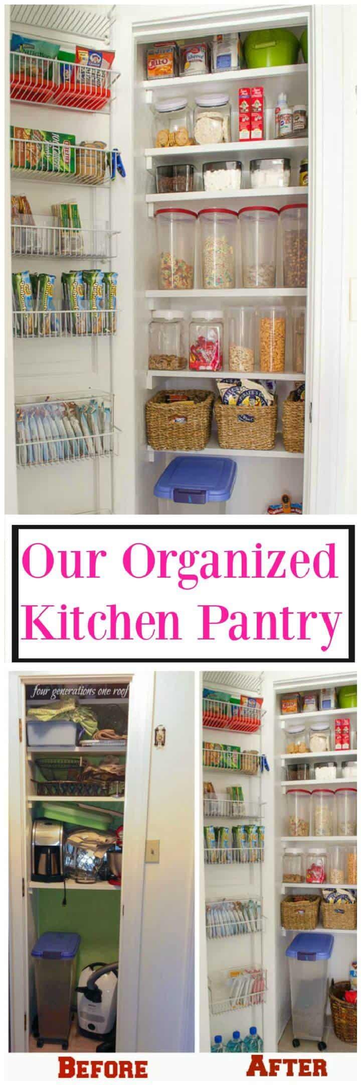 Nuestra despensa de cocina organizada