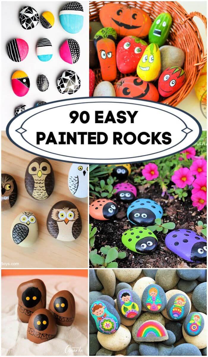 90 ideas de Easy Rock Painting para principiantes, rocas pintadas