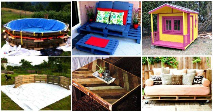 Proyectos de paletas para hacer y vender - Muebles de paletas - Ideas de paletas - Ideas de muebles de bricolaje - Proyectos de bricolaje - Manualidades de bricolaje - Proyectos de madera de paletas - 1001 paletas
