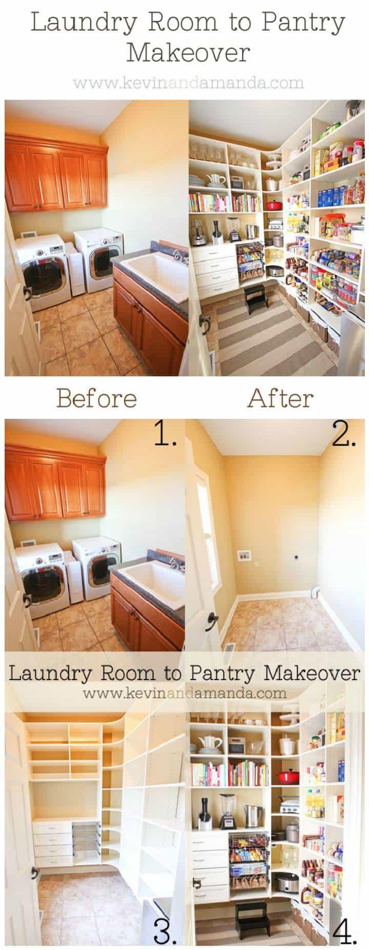 ¡Fotos de antes y después del cambio de imagen de la despensa!