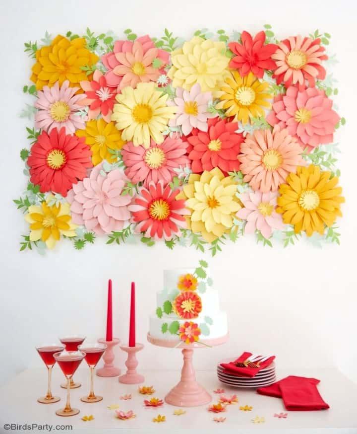 Fondo de flores de papel 1