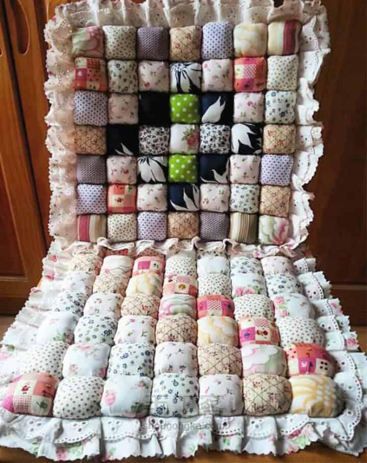 Tutorial de edredón de puff de almohada