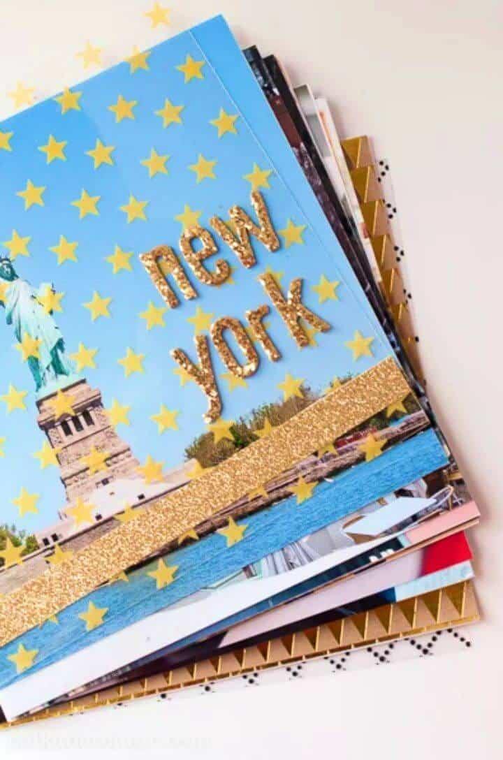 Bonito álbum de fotos de viaje de bricolaje, si está dispuesto a guardar sus fotos y recuerdos de viaje, ¡sería una gran idea hacer un álbum de fotos de viaje!