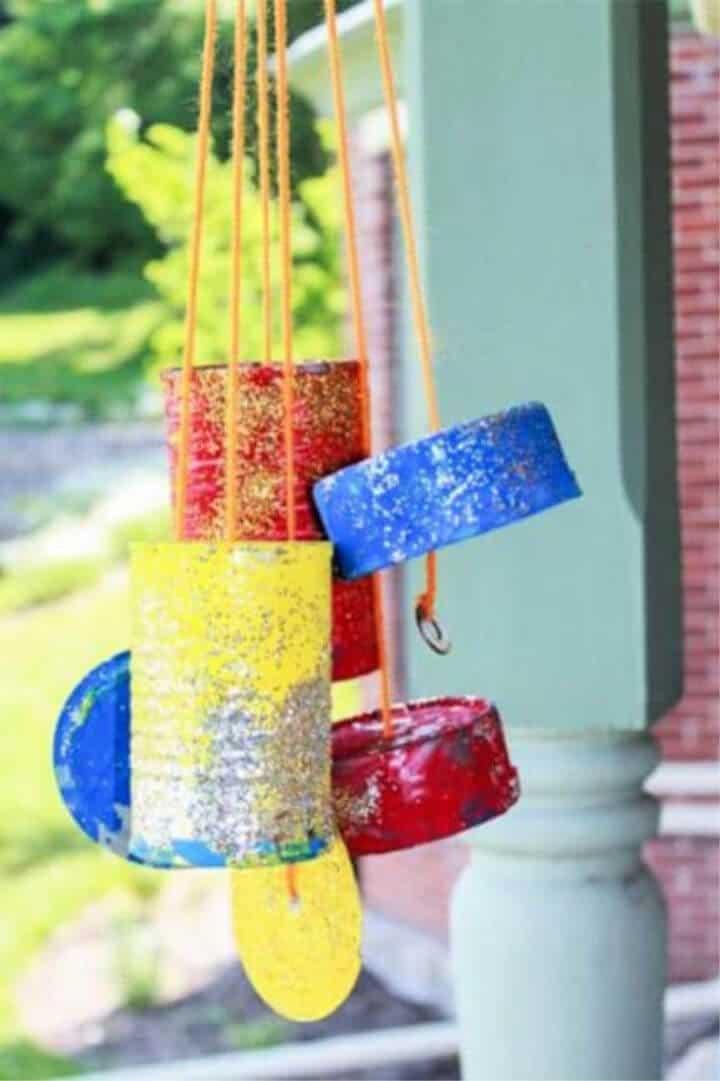 Bonitas campanas de viento de bricolaje