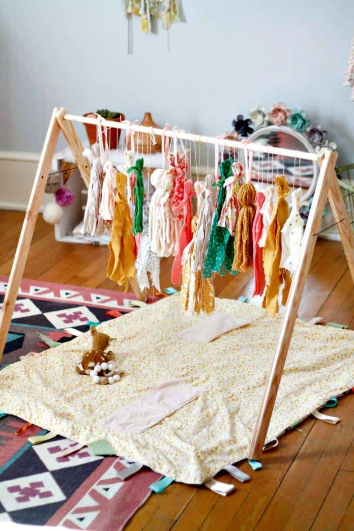 Gimnasio rápido para bebés DIY