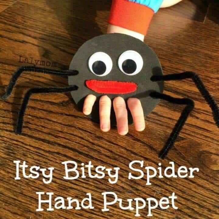 Marioneta de dedo de araña de Itsy Bitsy DIY