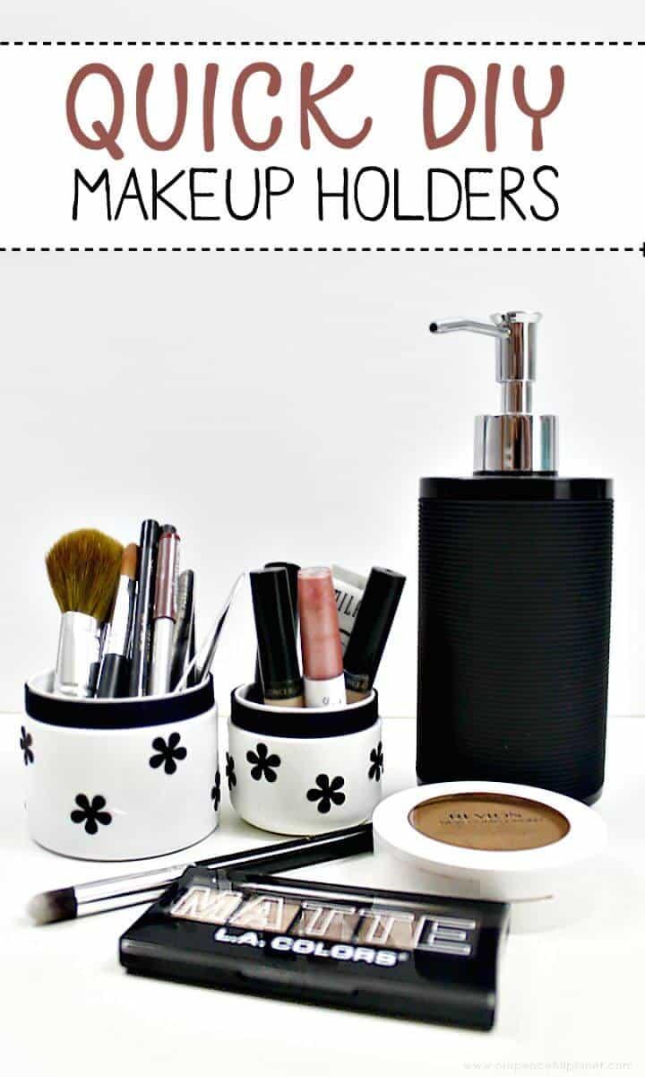Almacenamiento rápido de maquillaje de bricolaje