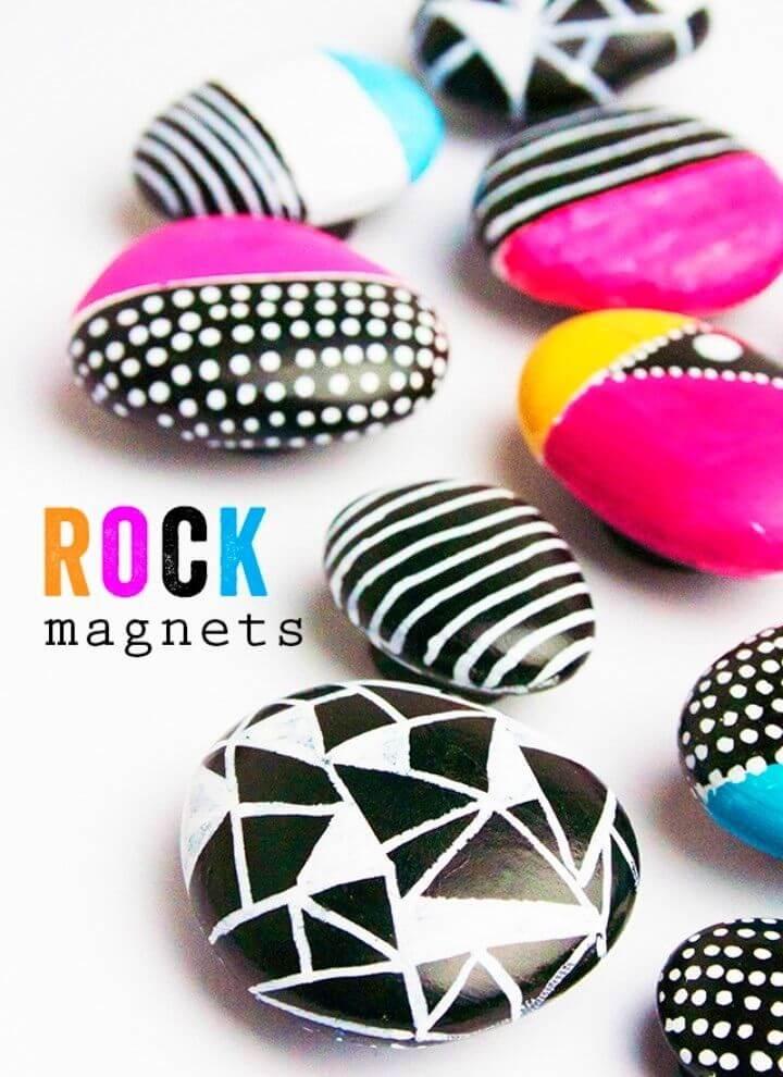 Imanes rápidos de rocas pintadas de bricolaje, arte de rocas pintadas