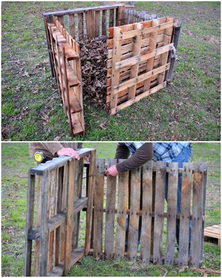 Cómo convertir paletas en un contenedor de compostaje: bricolaje para su jardín