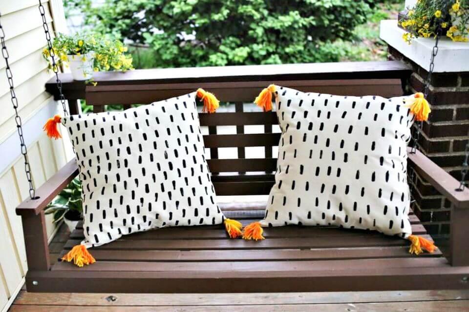Almohadas rápidas para el porche de bricolaje