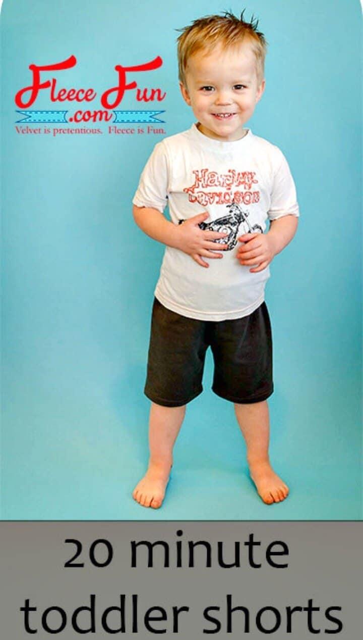 Shorts rápidos de bricolaje para niños pequeños en 20 minutos
