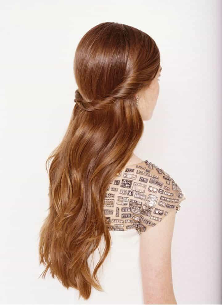 Peinados de boda rápidos mitad arriba mitad abajo