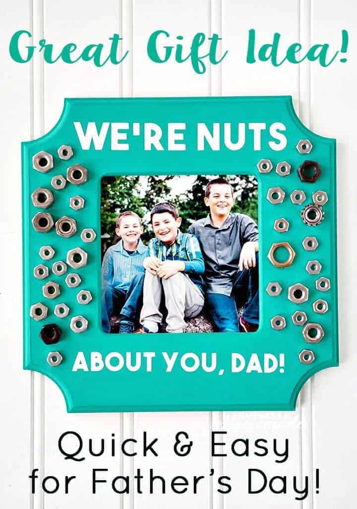 Marco de fotos de bricolaje para el día del padre - Idea de regalo