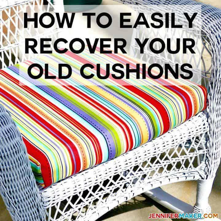 DIY recupera tus cojines al aire libre