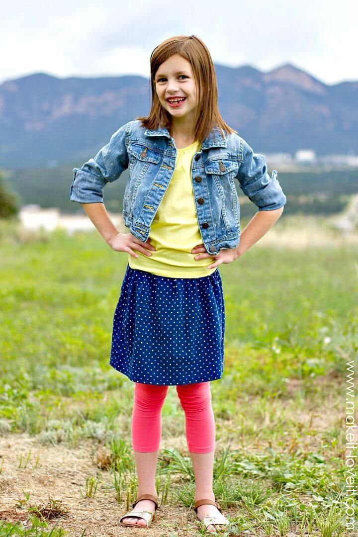 Falda de bricolaje rápida y fácil para la pequeña princesa