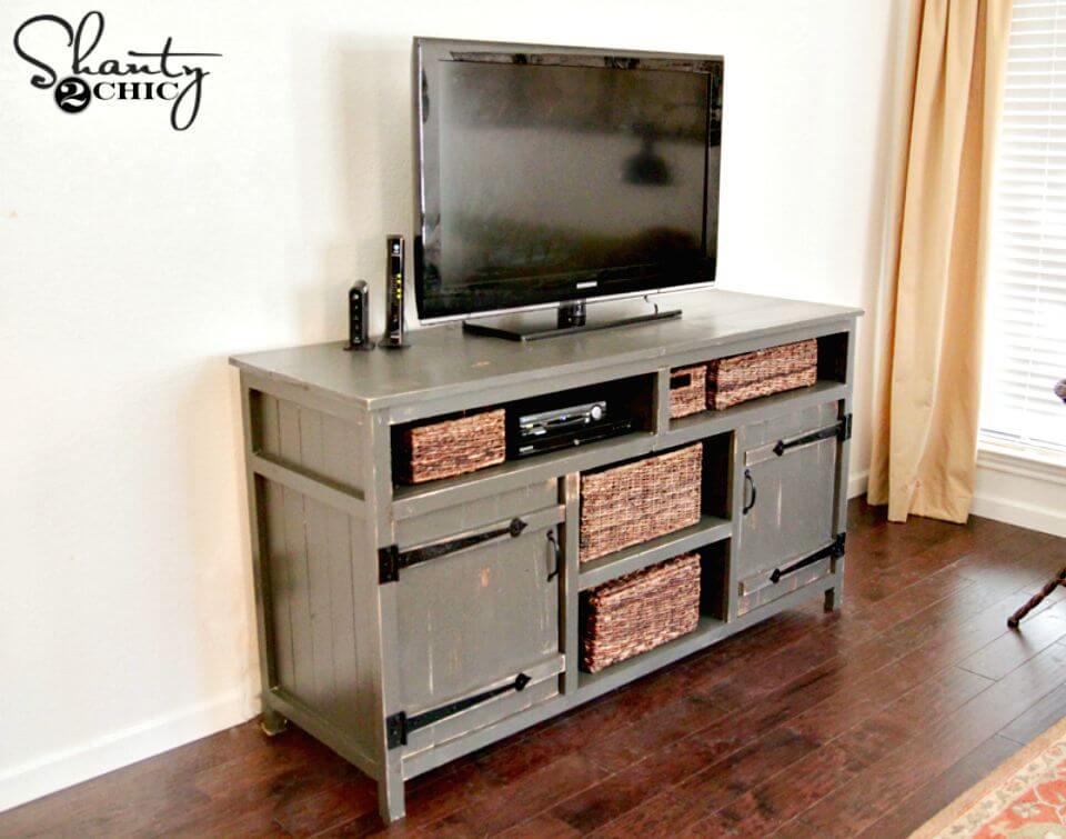 Tutorial rápido y fácil de consola de TV DIY