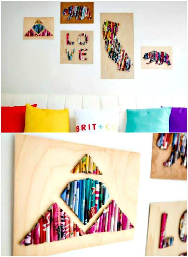 Revista DIY Re-Purposed Wall Art - Tutorial gratuito