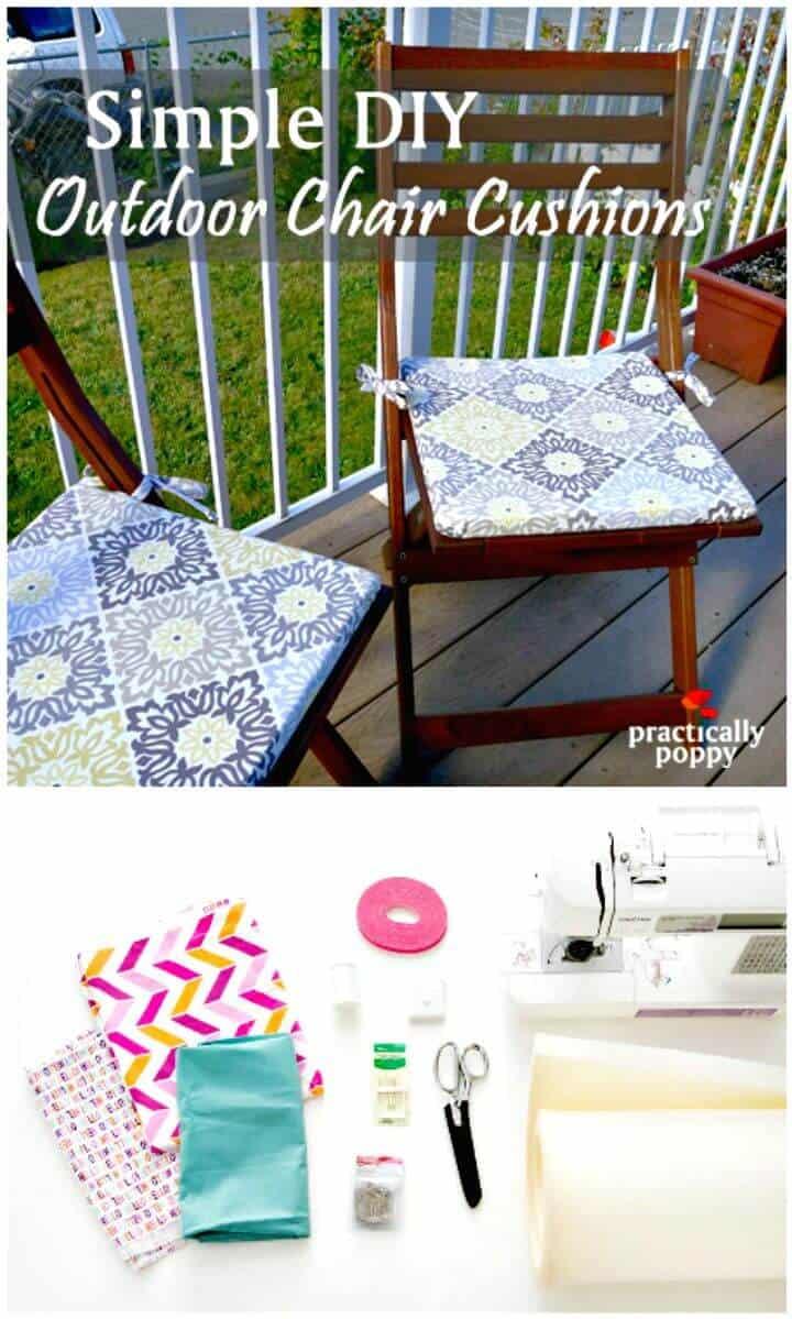 Cómo renovar cualquier silla vieja con estos cojines de asiento de bricolaje: tutorial gratuito