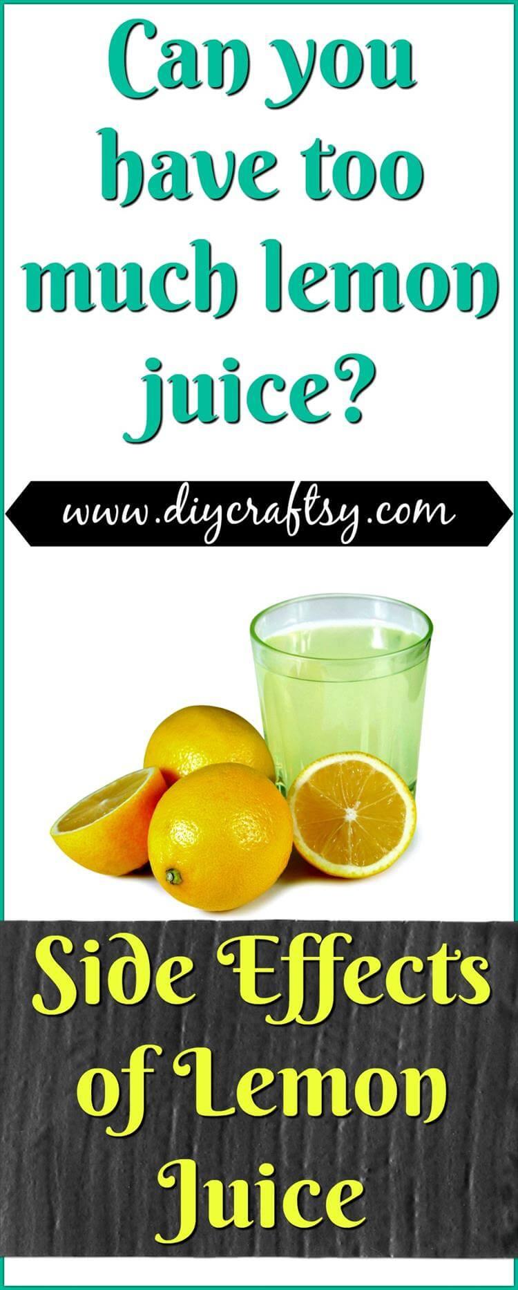 Efectos secundarios del jugo de limón
