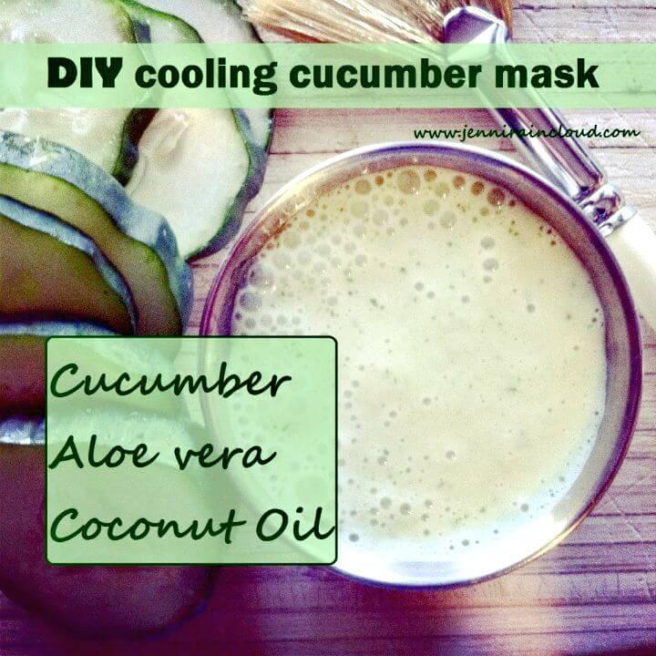 Simple Cooling Cucumber Mask - DIY