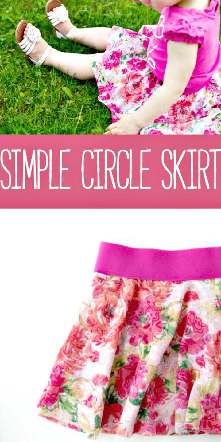 Falda circular simple de bricolaje para princesita
