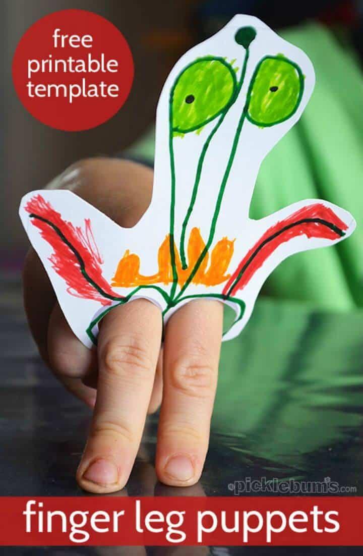 Marioneta de pierna de dedo pintada con bricolaje fácil