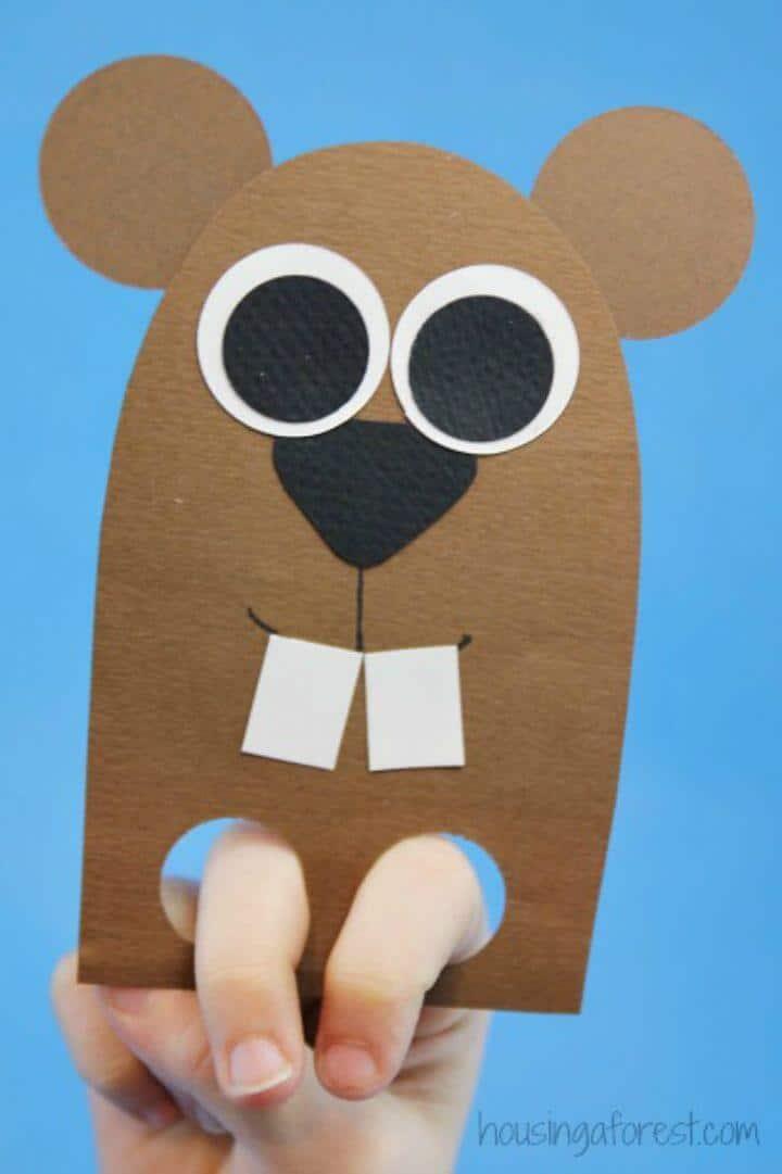 Artesanía de marionetas de dedo para niños