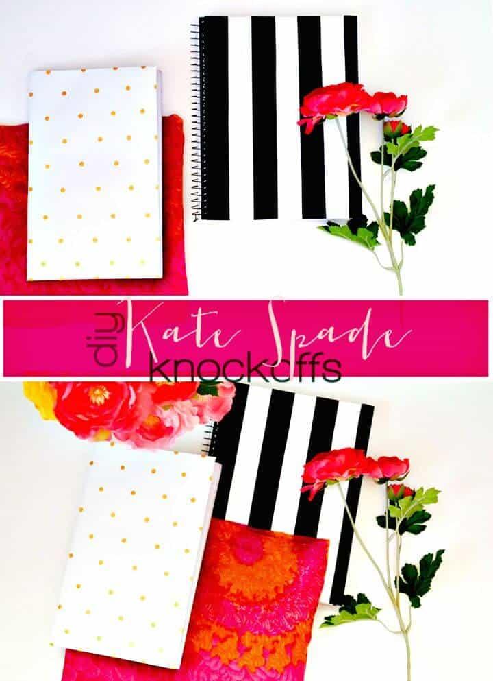 Cuadernos de imitación fáciles de bricolaje Kate Spade