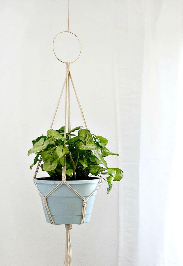 Colgador de plantas de macramé para bricolaje - Instrucciones paso a paso