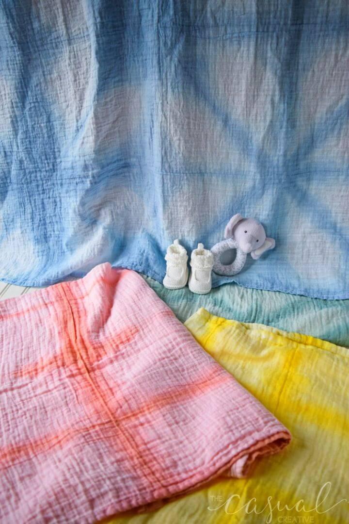 Mantas de bebé Shibori de bricolaje simples