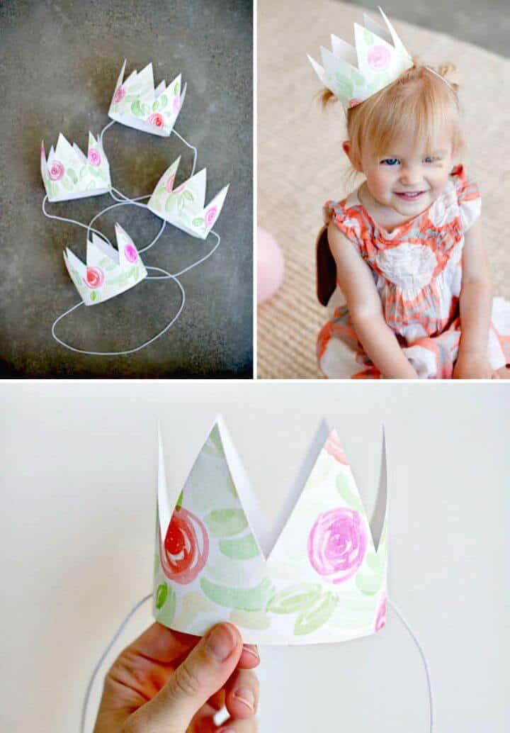 Corona floral de acuarela simple para bebé