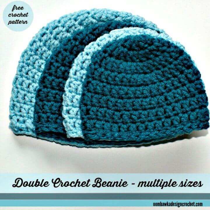 Patrón de sombrero doble de ganchillo gratis fácil y simple para hombres