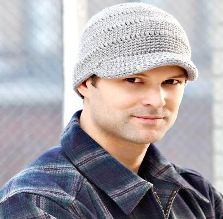 Patrón de sombrero de ala de crochet simple y lindo gratis Streetwise