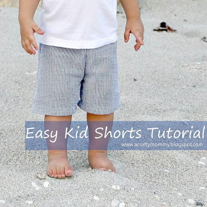 Pantalones cortos sencillos para coser bricolaje para niños