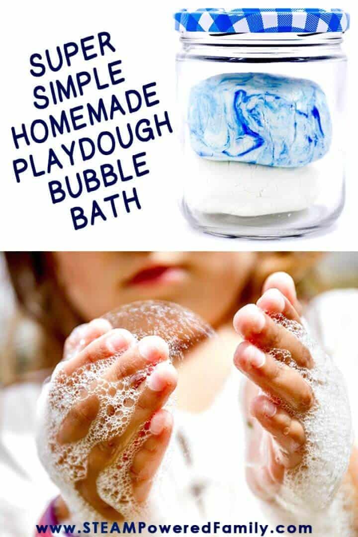 Receta de baño de burbujas de plastilina