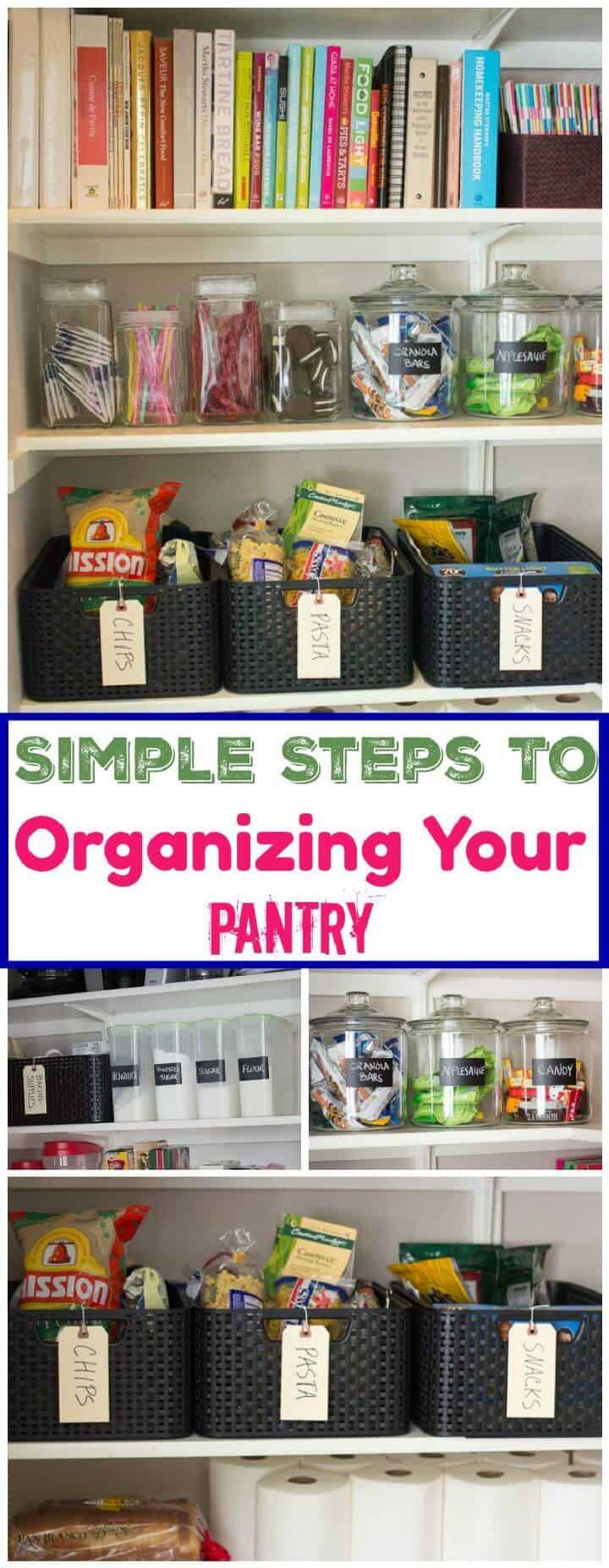 Pasos sencillos para organizar su despensa