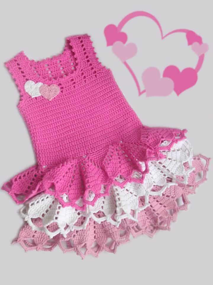 Patrón de vestido de San Valentín de ganchillo gratis