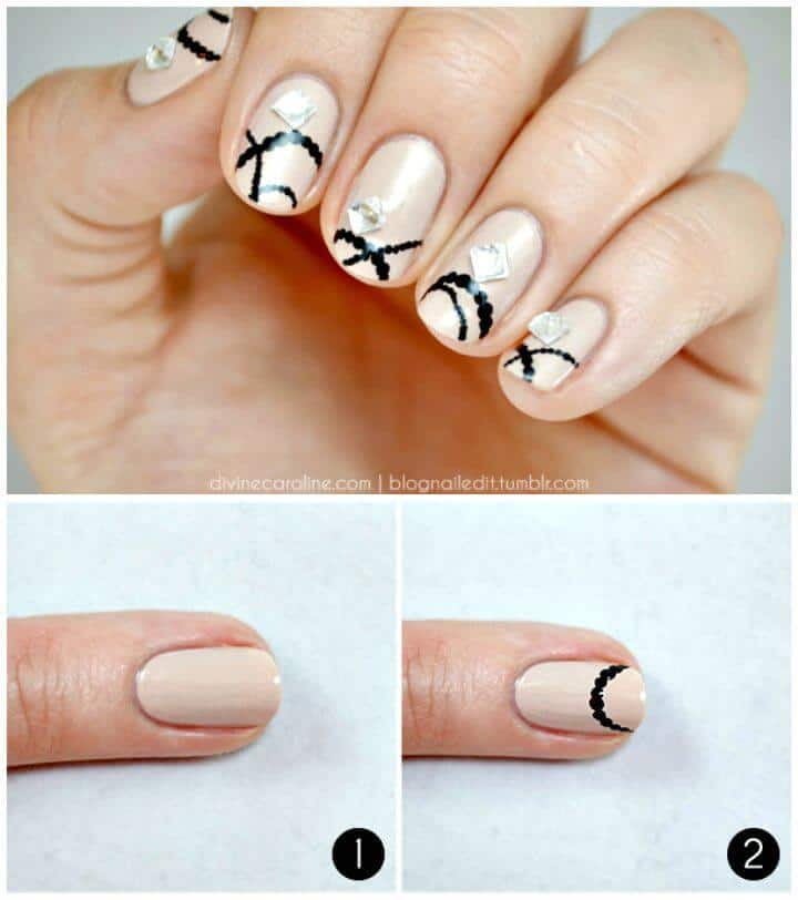 Cómo hacer bricolaje Spring Bling Nail Art