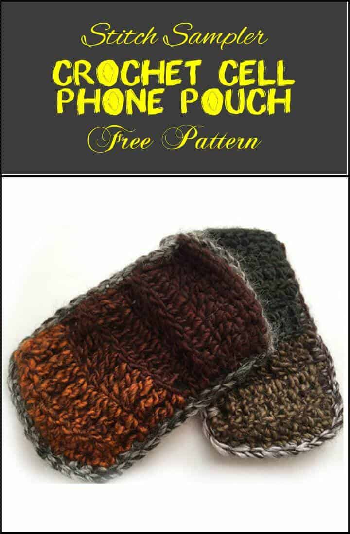 patrón de bolsa de ganchillo para teléfono celular fácil y elegante