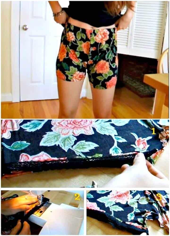 Pantalones cortos de verano con estilo DIY