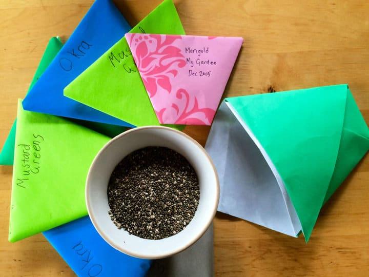 Sobres de semillas de origami súper fáciles de hacer