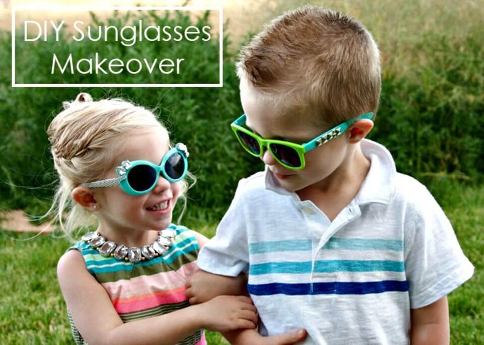 Cambio de imagen de las gafas de sol para niños de bricolaje súper fácil