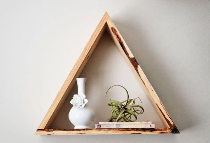 Estantes triangulares de bricolaje súper fáciles