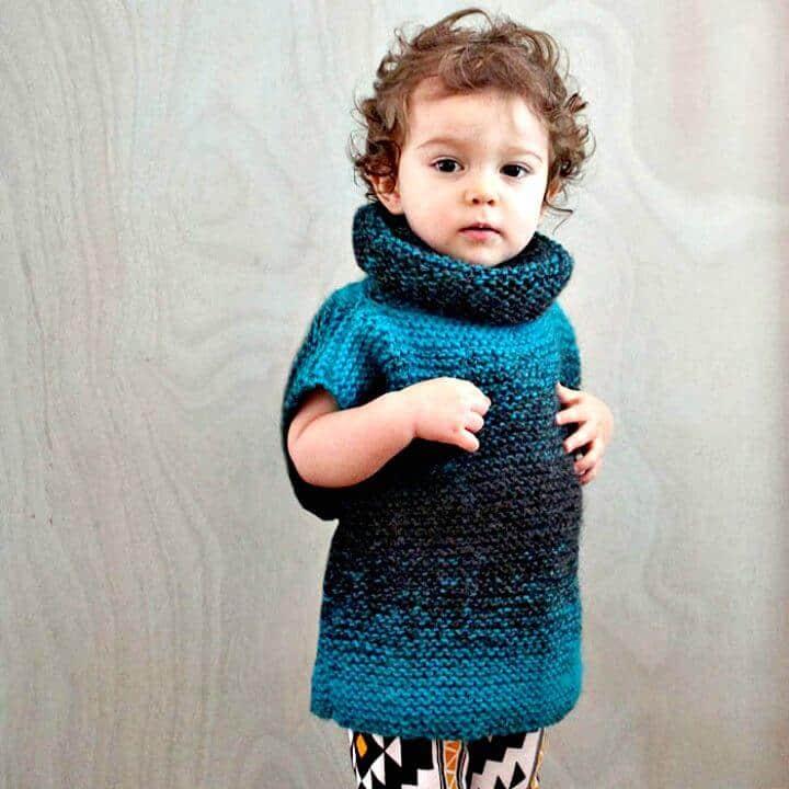 Tejer suéter infantil de 3 cuadrados - Patrón libre