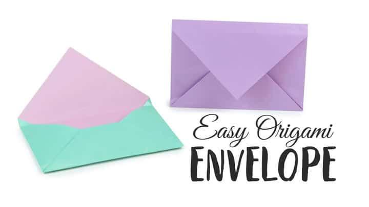Tutorial de sobres de origami súper fácil