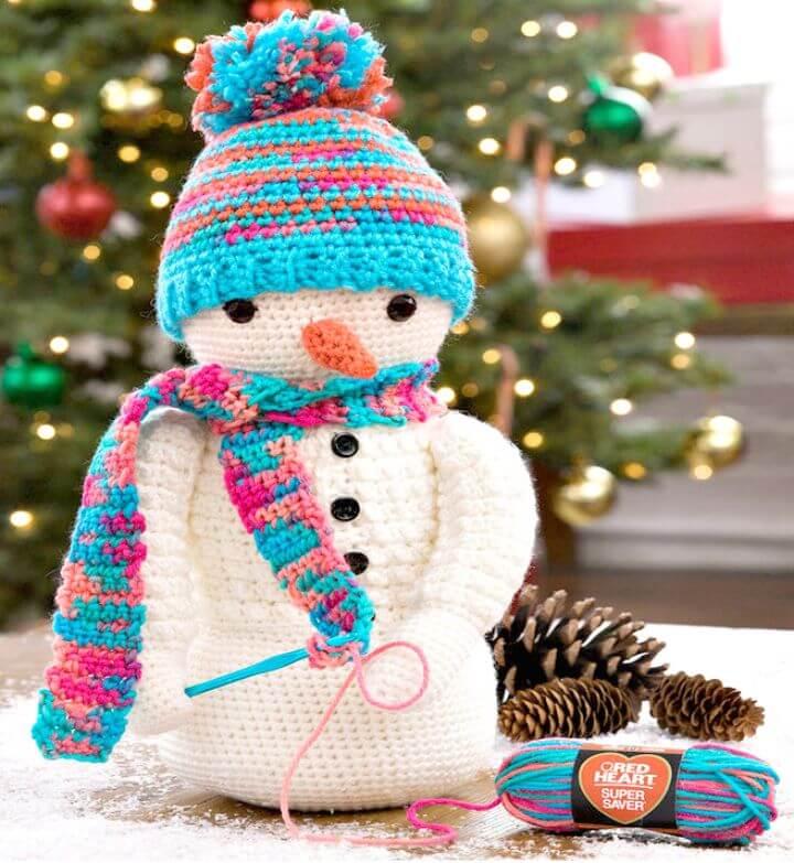 Patrón de muñeco de nieve de ganchillo gratis súper magnífico