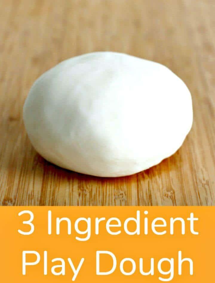 Receta de plastilina de 3 ingredientes súper simple